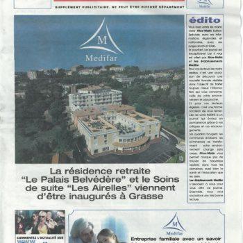 Medifar-Palais-Belvédère-Alpes-Maritimes-Grasse-Article de presse-Nice-Matin-3